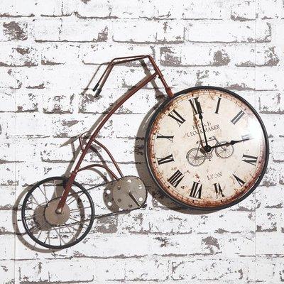 美式鄉村復古創意自行車掛鐘~loft 民宿 餐飲 居家 攝影