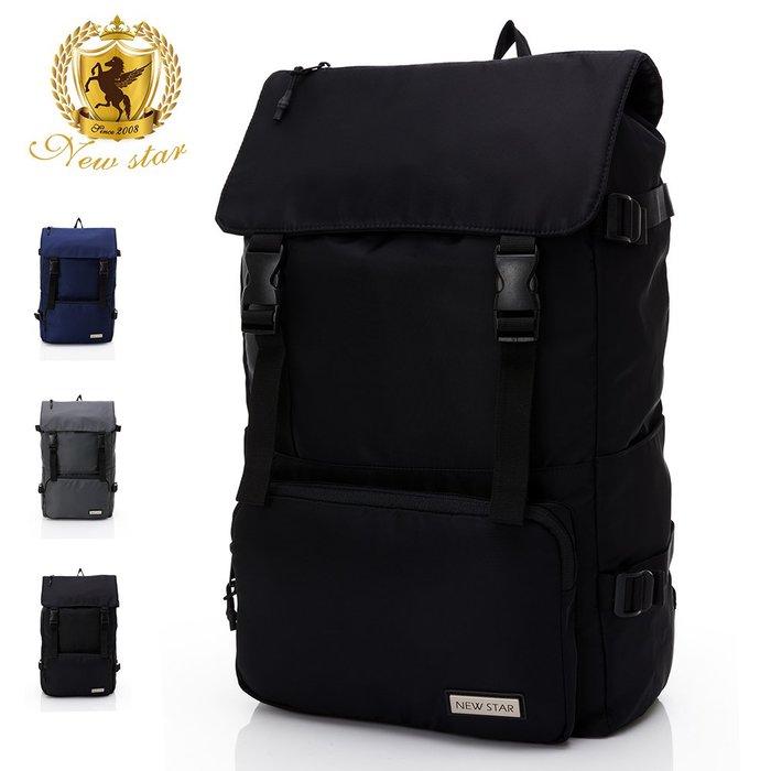 時尚簡約防水口袋加大後背包包 筆電包 電腦包 NEW STAR BK290