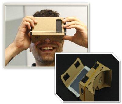 加厚新版印刷 頭戴版 Google Cardboard 3D眼鏡 VR實境顯示器google 眼鏡