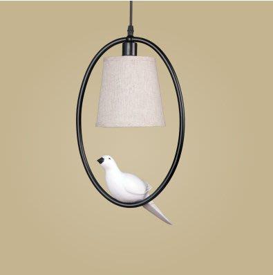 小鳥吊燈入戶創意美式鄉村北歐復古餐廳吧臺陽臺過道玄關單頭燈具 單頭(不含光源)