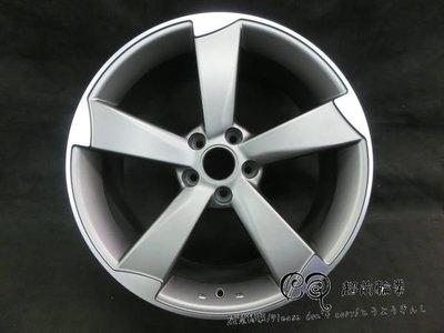 【超前輪業】編號(91)  奧迪 AUDI 式樣 18吋 5孔112 鐵灰車邊 完工價(含氣嘴) 5700
