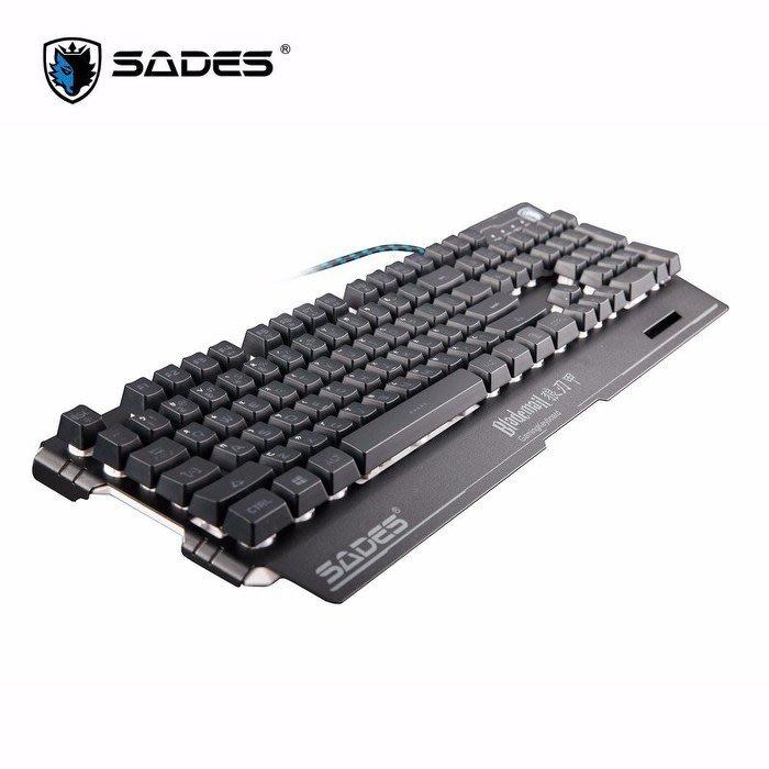 [ 邁克電腦 ]手感類似機械紅軸 SADES 賽德斯 Blademail 狼刃甲 RGB 電競鍵盤 中文注音版