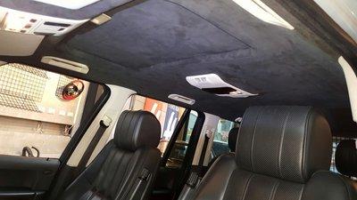 RANGE ROVER頂棚翻新-Alcantara麂皮,原廠絨布.G55.FX35.Q5.RX330.CAYENNE
