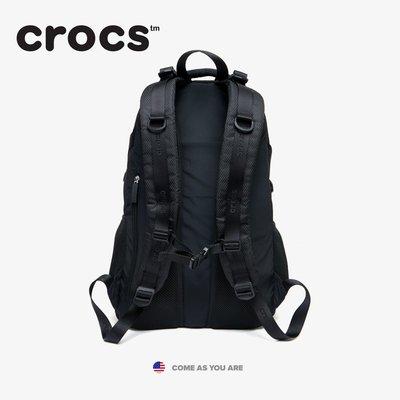 Crocs戶外徒步越野登山包女大容量雙肩包輕便男旅行收納防水裝備戶外雙肩背包大容量