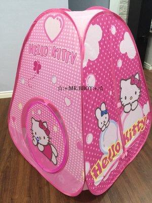☆:+:MR.BBOY:+:☆ 三麗鷗 Hello Kitty 三角粉紅兒童帳篷 折疊玩具球池屋 免租裝速開 雲端泡泡款