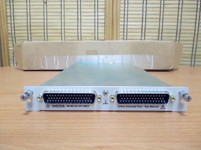 康榮科技二手儀器Agilent 34925A 40/80Ch FET Multiplexer for 34980A 全新