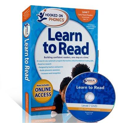 【西文優選】英文原版一二年級學生自然拼讀系列7級Hooked on Phonics Learn to Read-Leve