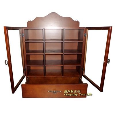 【DYL】鄉村風一抽12格雙門壁櫃、咖啡杯櫃(大)(全館一律免運費)