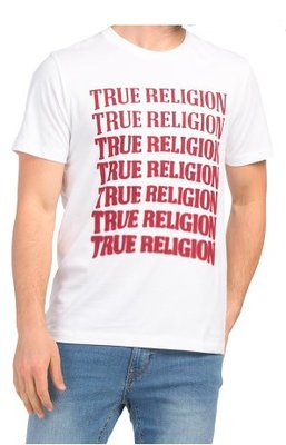 TRUE RELIGION Short Sleeve Descending Arch Crew Neck Tee