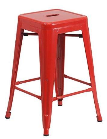 【南洋風休閒傢俱】造型吧檯椅系列-烤漆鐵板椅61高 吧檯椅 鐵藝吧檯椅 造型單椅 鐵面吧檯椅