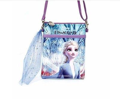 ♀高麗妹♀韓國 Disney FROZEN II 冰雪奇緣2 側背包.斜背包.小包.背帶可調整長度(E款-藍)預購