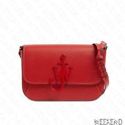 【WEEKEND】 J.W.ANDERSON Braided Midi Anchor 小款 肩背包 紅色