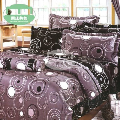 §同床共枕§100%精梳棉 單人3.5x6.2尺 舖棉床罩鋪棉兩用被五件式組-785灰