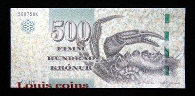 【Louis Coins】B490-FAEROE ISLANDS--2011法羅群島紙幣500 Krónur