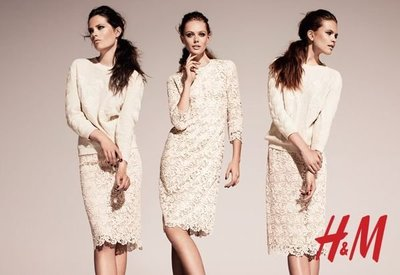 Meico Fashion 美可時尚 H&M Conscious系列 復古高貴優雅氣質蕾絲裙 (現貨) Sale~