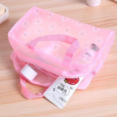 居家日用二期!!!旅行化妝包女可愛韓國透明防水化妝袋大容量洗漱包小號便攜收納包