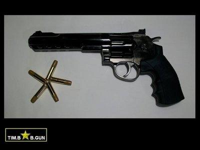 華山全金屬6吋柯特357左輪槍CO2動力版復古古銅色手槍BB彈玩具槍(生存遊戲6MM BB槍全民槍戰CS)