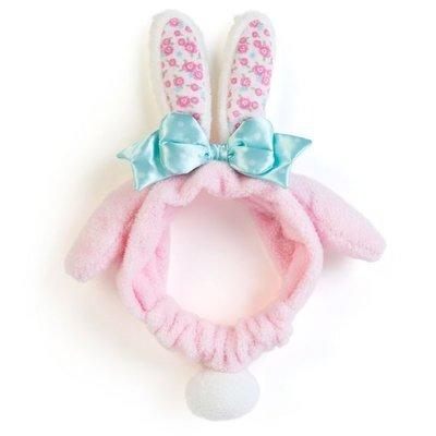 現貨 日本 正品 美樂蒂 兔子造型 髮帶 束髮帶 髮箍 髮飾 洗臉 敷面膜  化妝必備