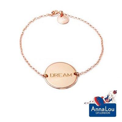 Anna Lou OF LONDON 台北ShopSmart直營店 優雅字墜 玫瑰金手鍊 DREAM