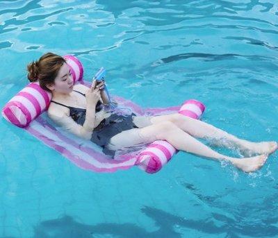 【NF417】充氣水上浮床 環保PVC水上玩具充氣浮排 水上漂浮床 單人游泳水上吊床浮床
