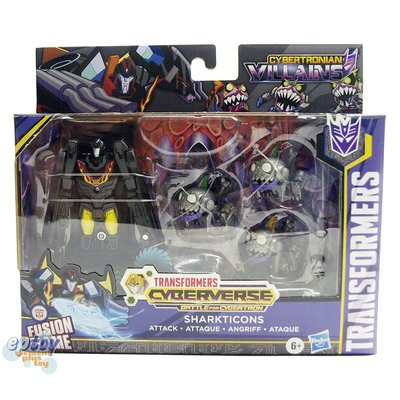 全新正版 變形金剛 Transformers Cyberverse Cybertronian Villains Sharkticons Hot Rod