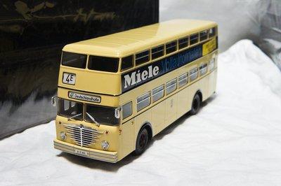 【超值特價】1:43 Minichamps Bussing D2U Miele 1958 雙層巴士 ※限量500台※