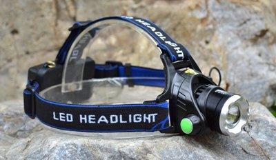 【新奇屋】L2 LED可變焦強光頭燈/礦燈/自行車燈/遠射防水/登山露營釣魚(附2顆充電鋰電池+直充充電器)