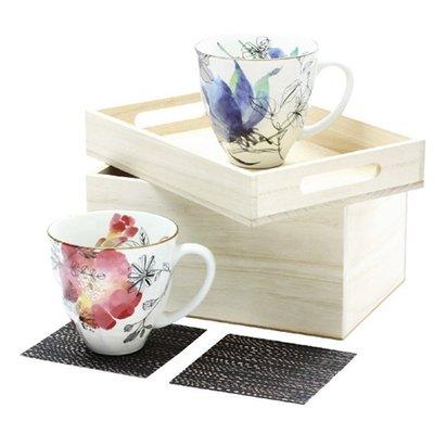 ~ 和藍~花ゆら馬克對杯組  美濃燒   日式 無毒 瓷器 生日 結婚 送禮 工藝 收藏品