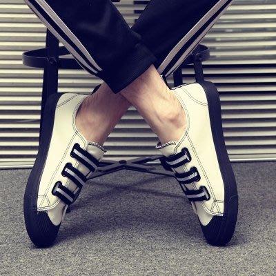 帆布鞋男春季新款一腳蹬男鞋韓版百搭懶人休閒板鞋學生情侶白布鞋