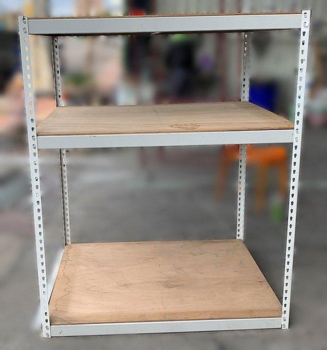 二手家具 台中 宏品全新中古傢俱 X32702*組合式3層鐵置物架* 中古全新臥室家具 衣櫥 衣櫃 化妝鏡 床組 床墊