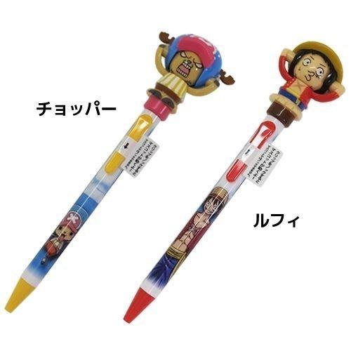 41+現貨免運費 ワンピース ボールペン 顔変わりペン ルフィ チョッパー ショウワノート 長さ17cm