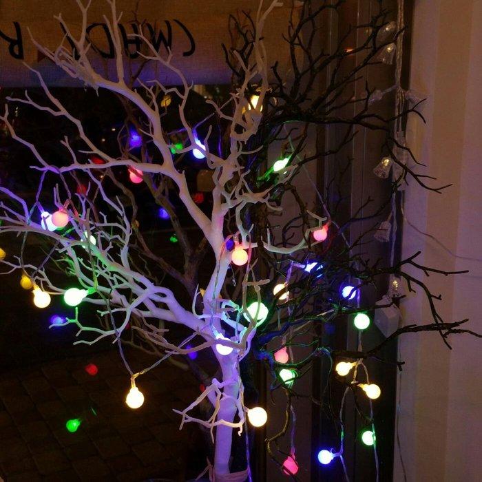 LED {{小圓球彩色款}}燈串 庭院婚禮節慶裝飾燈(插電款)