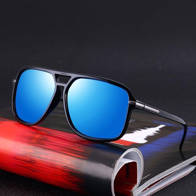 『潮男衣舍』7月新品 夏季新款 潮男遮陽偏光蛤蟆墨鏡太陽鏡 型男黑框眼鏡太陽眼鏡Y954