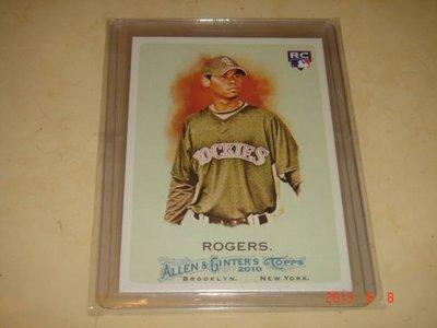 中華職棒 中信兄弟象隊 新洋將 羅傑斯 Esmil Rogers 2010  球員卡共兩張