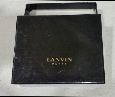 歐洲法國知名品牌PARIS LANVIN皮夾原廠硬殼精緻包裝禮盒收藏完好。完美主義者請勿下標