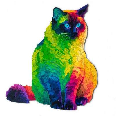 正品美國進口木質Nervous治愈拼圖彩虹貓224片Nervous 賢寶寶同款