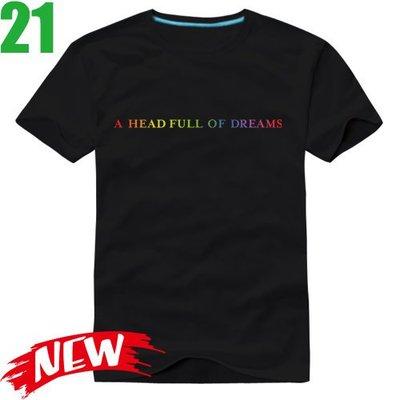 Coldplay【酷玩樂團】【A Head Full Of Dreams】短袖搖滾T恤(共6種顏色)新款上市!【賣場三】