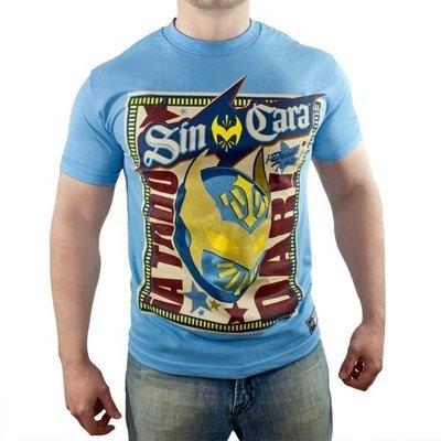 ☆阿Su倉庫☆WWE摔角 Sin Cara Bienvenido Authentic T-Shirt CARA絕版面具圖騰款衣服 S號M號特價中