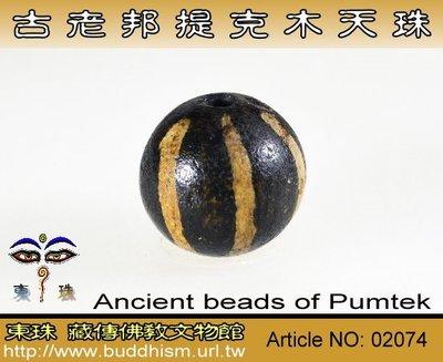 【東珠文物】古老喜瑪拉雅邦提克木天珠系列。02074