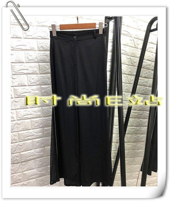 時尚E站【~SSEZ~】7117063049 真絲垂感闊腿休閑高腰褲