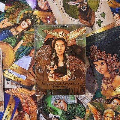 Angels and Ancestors Oracle Cards 天使與祖先神諭卡英文版55張卡牌『御茗源佳』