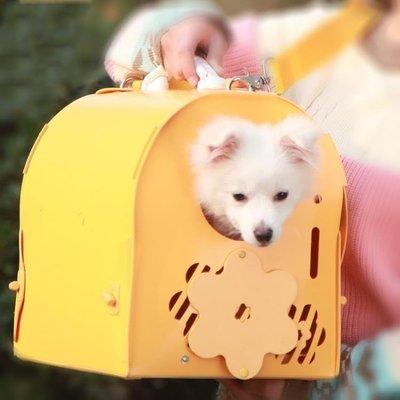 寵物外出包手提便攜單肩貓包斜挎泰迪寵物包狗狗背包旅行攜帶狗包 尚美優品