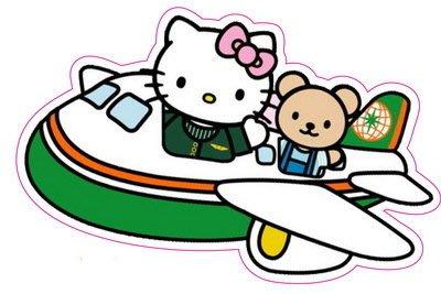 全館滿千免運 *防水3M壁貼*Hello Kitty 長榮航空 KT貼紙-車貼 行李貼 隨意貼 安全帽貼 機車貼