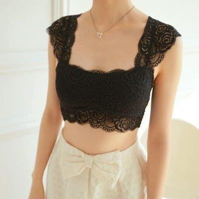 吊帶小背心 內衣-優雅秀氣蕾絲造型T-bra2色73il2[獨家進口][米蘭精品]