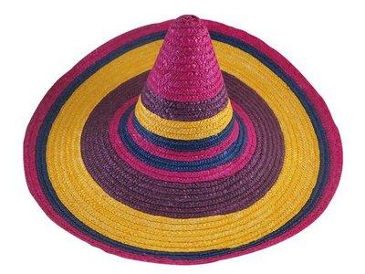 ☆二鹿帽飾☆ 墾丁春浪音樂節 指定 ( 彩虹)墨西哥帽 遮大太陽(表演草帽)