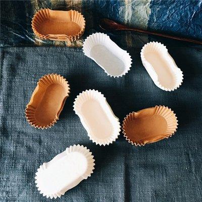 聚吉小屋 #熱賣#歐洲進口方形小號面包托 閃電泡芙紙托 油紙 烘焙蛋糕紙杯100個(價格不同 請諮詢後再下標)