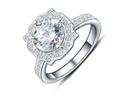 水梨款珠寶專櫃925純銀包厚白金戒指高...