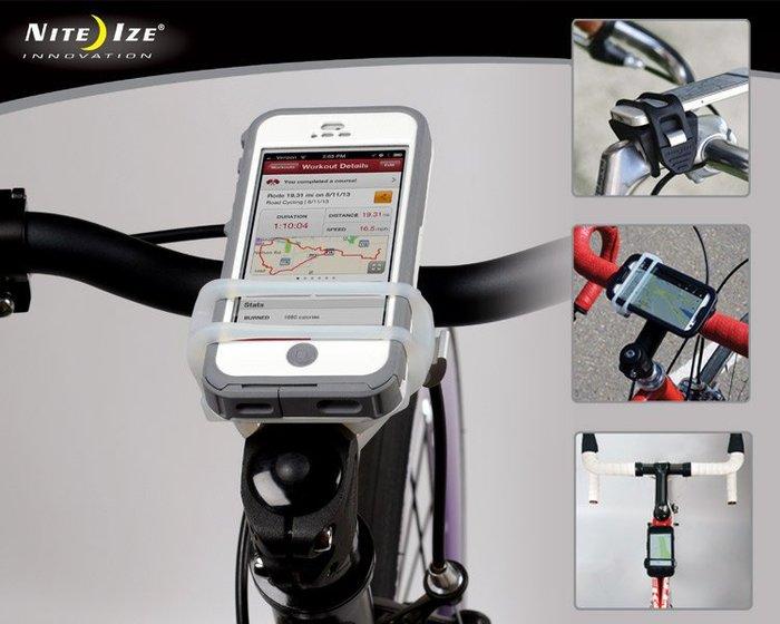 【angel 精品館 】  NITE IZE 自行車用- 手機固定扣 (黑色)HDB-01-R3