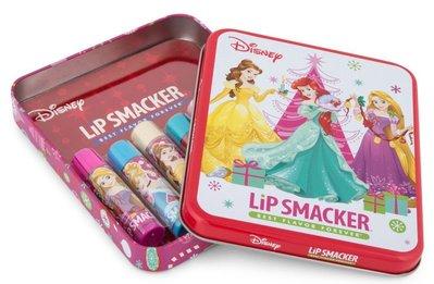 美國 Lip Smacker [ 迪士尼公主系列護唇膏 ] Disney 六支組+ 贈1支 鐵盒款 全新