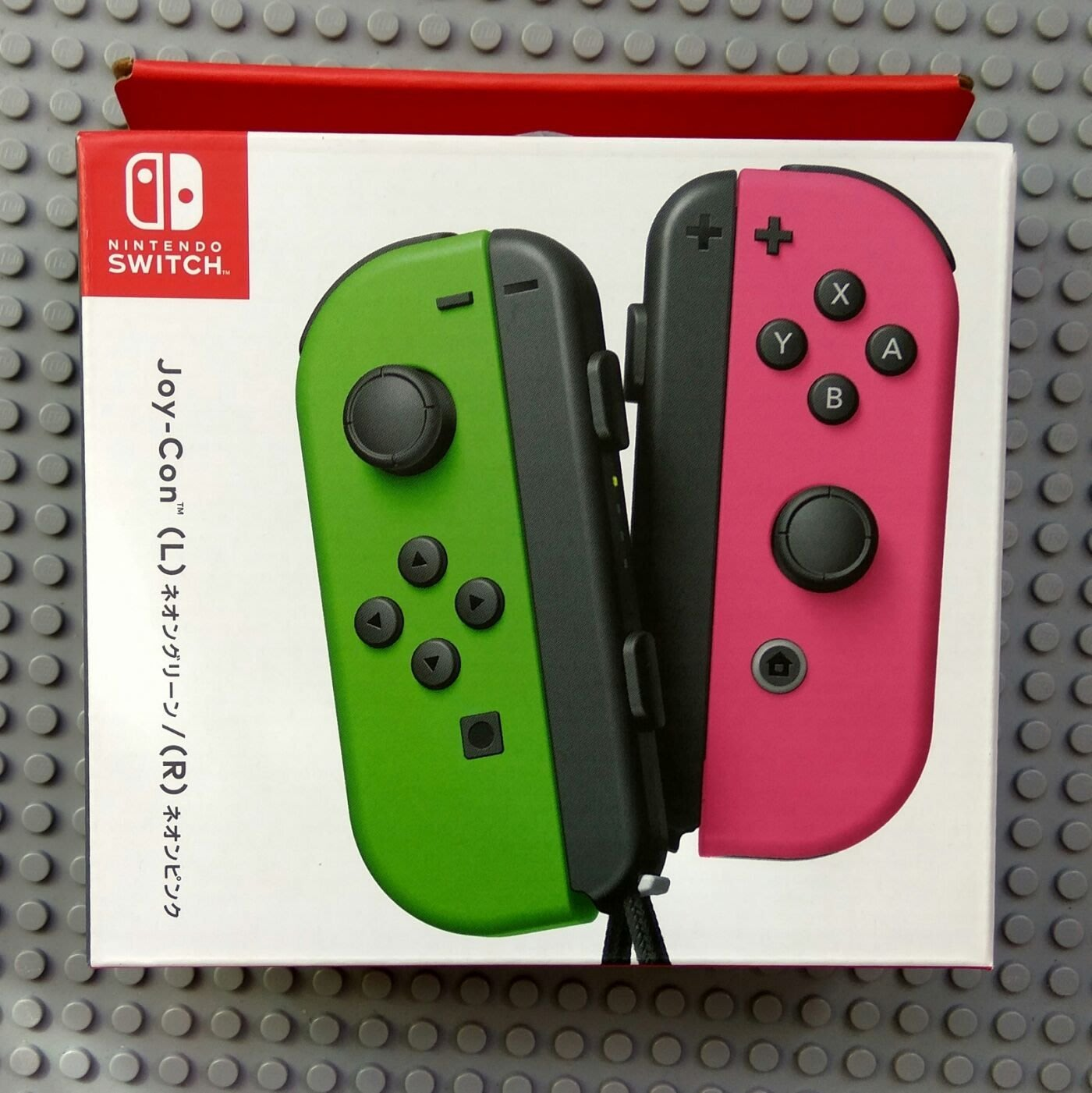 Switch joy-con L+R(霓虹粉/霓虹綠) (日規) 原廠周邊正品